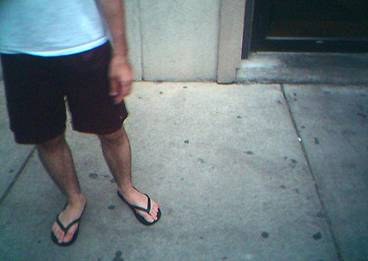 Flip Flops anywhere other than the beach or swimming pool