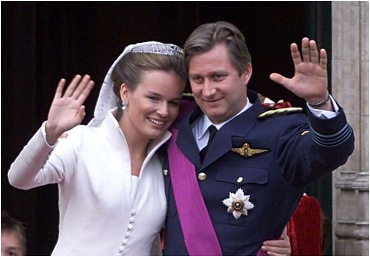 Prince Phillipe of Belgium and Countess Mathilde d Udekem d Acoz 1999