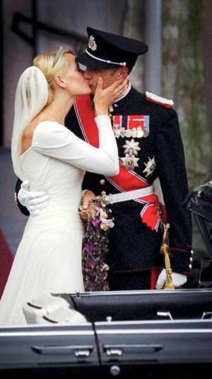 Prince Haakon Magnus of Norway and Mette Marit Tjessem Hoiby 2001
