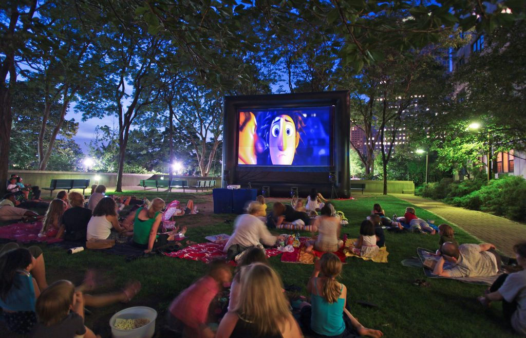 No Outdoor Movies for Minors!