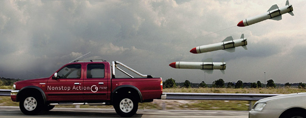 It is illegal to Throw Missiles at Vehicles